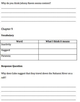 Far North Comprehension Questions and Vocabulary Guide