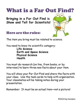 Far Out Finds:  Science Activity for Young Scientists in Grades 3 to 6