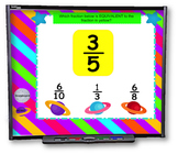 4th Grade Fractions SMART BOARD Game