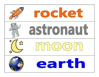 """""""Far Out"""" Sentences - Space Themed Vocabulary Words and Sentence Worksheet"""