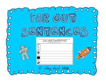 """Far Out"" Sentences - Space Themed Vocabulary Words and Se"