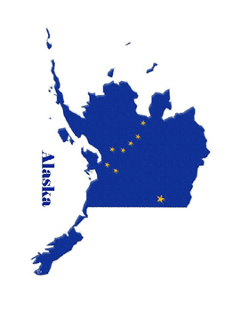 Far West United States Flag Maps