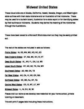 Far West United States Nickname Maps