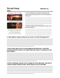 Far and Away Movie Quiz and Writing Assignment