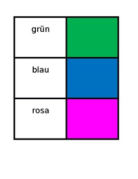 Farben (Colors in German) Concentration games