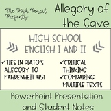 The Allegory of the Cave   PowerPoint Presentation & Notes   High School English