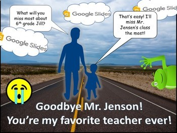 Farewell Card Activity for Teaching Google Slides Skills