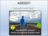 Farewell Card Activity for Teaching Google Slides Skills