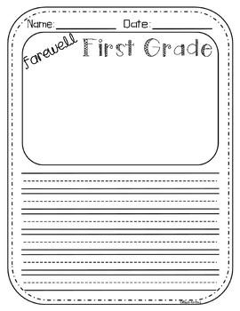 Farewell First Grade