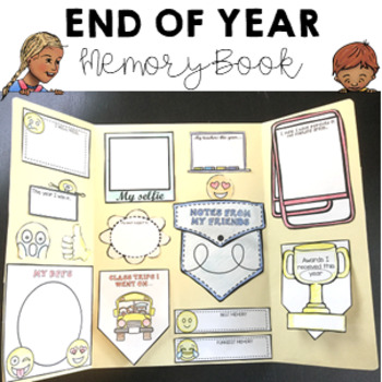 Farewell Folder Student end of year keepsake flip and interactive lap book