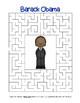 Farewell President Barack Obama - Search, Scramble & Maze (color & black line)