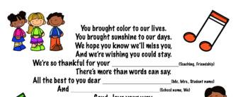 Farewell/Thank You Song: Character Traits & Life Skills, SEL Songs