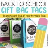 Back to School Student Gift Tags End of Year Editable