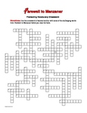 Farewell to Manzanar: 50-Word Prereading Crossword—Great Warm-Up for the Book!