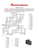 Farewell to Manzanar: Anagram Crossword—Unique Spelling Workout!