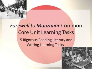 Farewell to manzanar teaching resources teachers pay teachers farewell to manzanar common core learning tasks 15 rigorous tasks fandeluxe Image collections