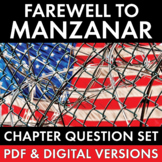 Farewell to Manzanar, Japanese Internment, Chapter Question Set for Memoir, CCSS
