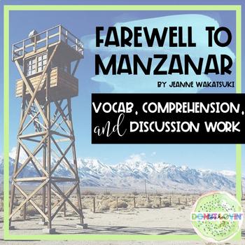 Farewell to Manzanar - Novel Study: Vocab, Comprehension,