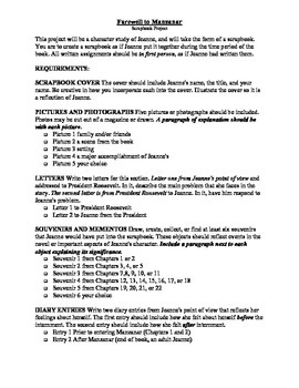 Farewell to Manzanar Scrapbook Project