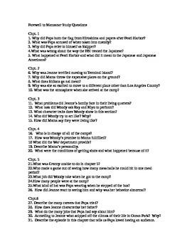 Farewell to Manzanar Study Question
