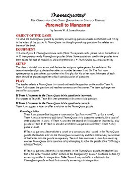 Farewell to Manzanar Trivia Game: 197 Questions! Not Your Typical Trivia Game!