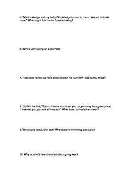 By the Waters of Babylon by Stephen Vincent Benet Guided Reading Questions