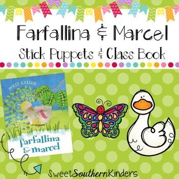 Farfallina and Marcel Stick Puppets & Writing Activity