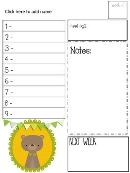 Farley's Framed Friends To Do Lists *editable*you customize it*
