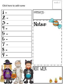 Farley's Halloween To Do Lists *editable*you customize it*