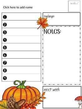 Farley's Harvest To Do Lists *editable*you customize it*
