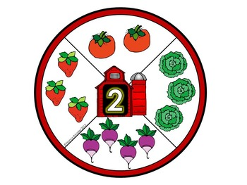 Farm: 0-10 Counting Clip Circles