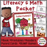 Farm Literacy and Math Activities Packet
