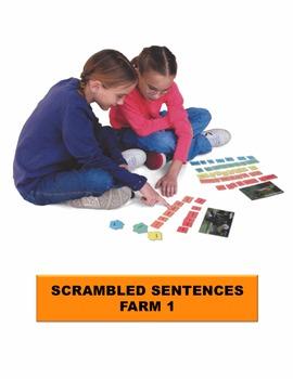 Farm 1 Scrambled Sentences Manipulatives