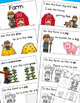 Farm Theme Emergent Reader, Rhyme and Read, Cut and Paste