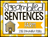Farm Scrambled Sentence Station
