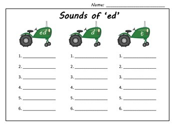 Farm 3 Sounds of 'ed'