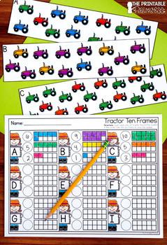 Kindergarten Farm Centers for Math and Literacy Activities