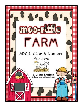 Farm ABC Letter and Number Posters and a Farm ABC Chart for the writing area