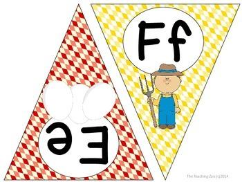 Farm ABC Word Wall Pennant Banner