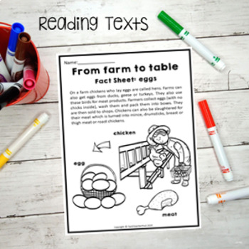 Farm Activity Pack literacy and maths activities including a fun diorama