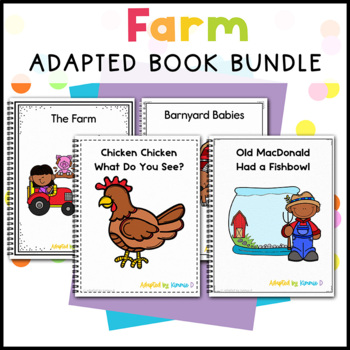 Farm Adapted Book Bundle: 3 Farm Adapted Books for Special Education