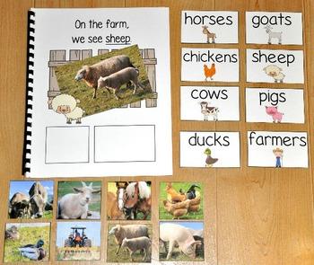 """Farm Adapted Book--""""On the Farm"""" (w/Real Photos)"""