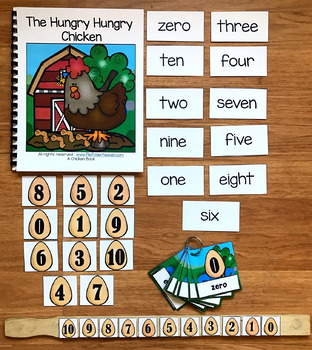 "Farm Adapted Book And Vocabulary Activities:  ""The Hungry Hungry Chicken"""