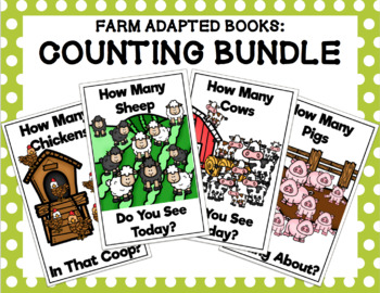 Farm Adapted Books: Counting Bundle