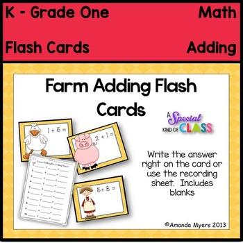 Farm Adding Flash Cards
