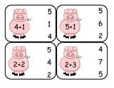 Farm  Addition Clip Card Math Center