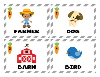 "Farm ""How Much Is That Word Worth?"" Money Addition Task Cards"