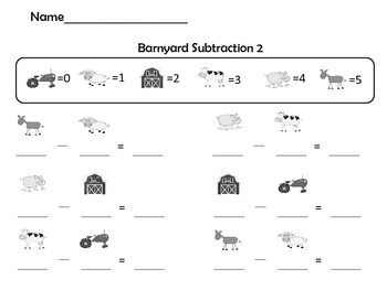 Farm Addition and Subtraction Practice