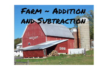Farm - Addition and Subtraction Scoot