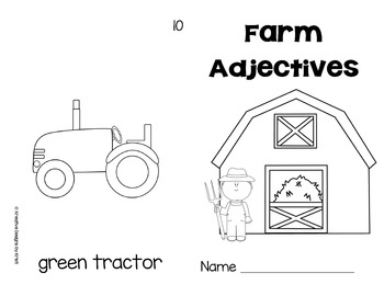 Farm Adjectives Book